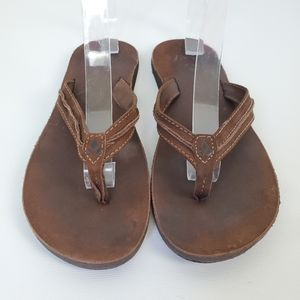 Reef Leather Cushioned Comfortable Thong Sandals
